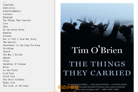【配音频】The Things They Carried by Tim O'Brien(mobi,epub,pdf)