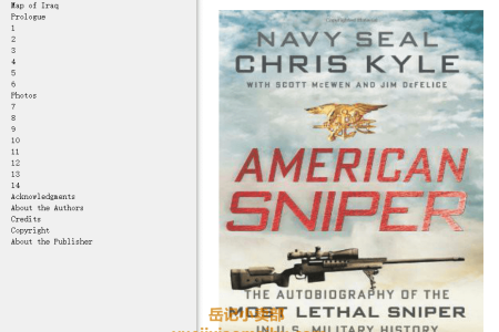 【配音频】American Sniper: The Autobiography of the Most Lethal Sniper in U.S. Military History by Chris Kyle,  Scott McEwen, Jim DeFelice(mobi,epub,pdf)