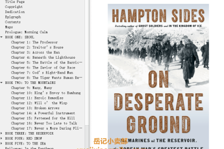【配音频】On Desperate Ground: The Marines at The Reservoir, the Korean War's Greatest Battle by Hampton Sides(mobi,epub,pdf)