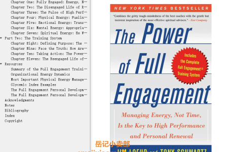 【配音频】The Power of Full Engagement: Managing Energy, Not Time, Is the Key to High Performance and Personal Renewal by Jim Loehr,  Tony Schwartz(mobi,epub,pdf)