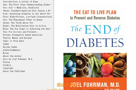 【配音频】The End of Diabetes: The Eat to Live Plan to Prevent and Reverse Diabetes by Joel Fuhrman(mobi,epub,pdf)