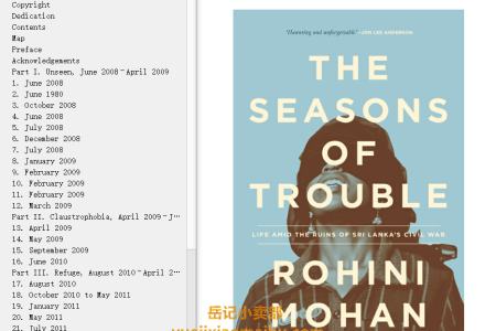 【电子书】The Seasons of Trouble: Life Amid the Ruins of Sri Lanka's Civil War by Rohini Mohan(mobi,epub,pdf)