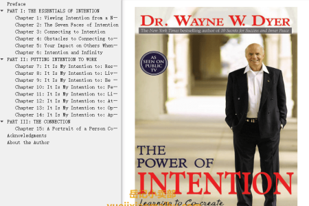 【配音频】The Power of Intention: Learning to Co-create Your World Your Way by Wayne W. Dyer(mobi,epub,pdf)