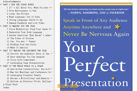 【配音频】Your Perfect Presentation: Speak in Front of Any Audience Anytime Anywhere and Never Be Nervous Again by Bill Hoogterp(mobi,epub,pdf)