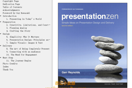 【电子书】Presentation Zen 2nd Edition: Simple Ideas on Presentation Design and Delivery by Garr Reynolds(mobi,epub,pdf)