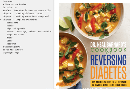 【电子书】Dr. Neal Barnard's Cookbook for Reversing Diabetes: 150 Recipes Scientifically Proven to Reverse Diabetes Without Drugs by Neal Barnard M.D.(mobi,epub,pdf)