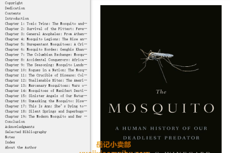 【配音频】The Mosquito: A Human History of Our Deadliest Predator by Timothy C. Winegard(mobi,epub,pdf)