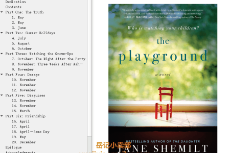 【配音频】The Playground by Jane Shemilt(mobi,epub,pdf)