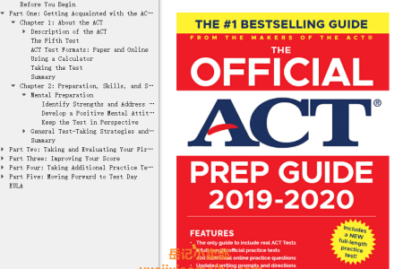 【电子书】The Official ACT Prep Guide 2019-2020 by ACT(mobi,epub,pdf)