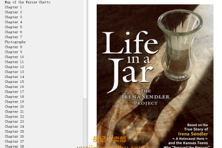 【配音频】Life in a Jar: The Irena Sendler Project by Jack Mayer(mobi,epub,pdf)