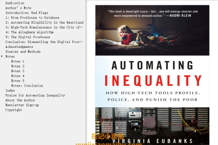 【配音频】Automating Inequality: How High-Tech Tools Profile, Police, and Punish the Poor by Virginia Eubanks(mobi,epub,pdf)
