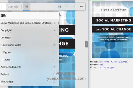 【电子书】Social Marketing and Social Change: Strategies and Tools For Improving Health, Well-Being, and the Environment by R. Craig Lefebvre(pdf)