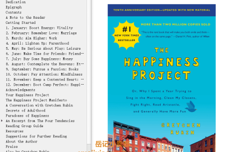 【配音频】The Happiness Project: Or Why I Spent a Year Trying to Sing in the Morning, Clean My Closets, Fight Right, Read Aristotle, and Generally Have More Fun (The Happiness Project #1) by Gretchen Rubin(mobi,epub,pdf)