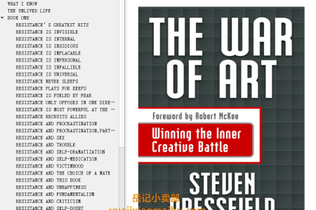 【配音频】The War Of Art: Winning the Inner Creative Battle by Steven Pressfield(mobi,epub,pdf)