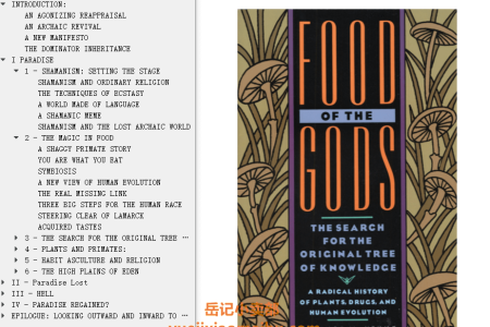 【配音频】Food of the Gods: The Search for the Original Tree of Knowledge by Terence McKenna(mobi,epub,pdf)