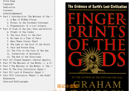 【电子书】Fingerprints of the Gods by Graham Hancock(mobi,epub,pdf)