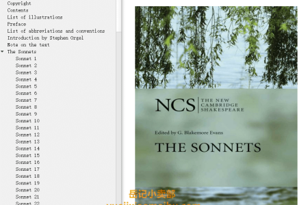 【电子书】The Sonnets (The New Cambridge Shakespeare) by William Shakespeare(mobi,epub,pdf)