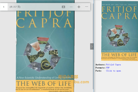 【配音频】The Web of Life: A New Scientific Understanding of Living Systems by Fritjof Capra(pdf)