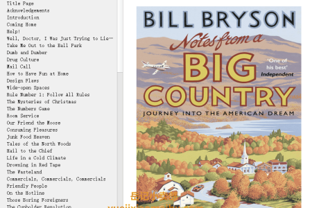 【配音频】Notes from a Big Country by Bill Bryson(mobi,epub,pdf)