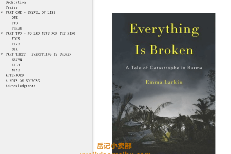 【配音频】Everything Is Broken: A Tale of Catastrophe in Burma by Emma Larkin(mobi,epub,pdf)