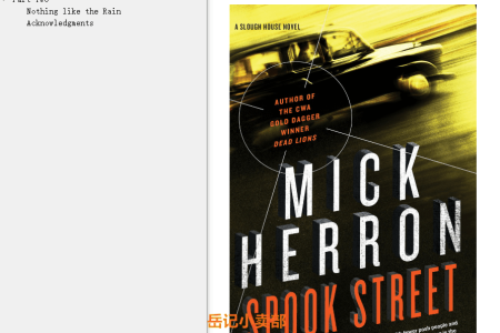 【配音频】Spook Street (Slough House #4) by Mick Herron(mobi,epub,pdf)