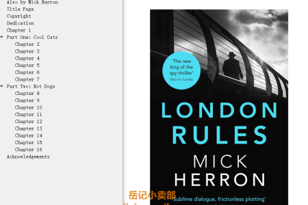 【配音频】London Rules (Slough House #5) by Mick Herron(mobi,epub,pdf)
