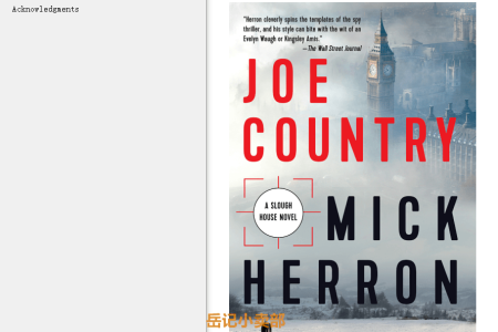 【配音频】Joe Country (Slough House #6) by Mick Herron(mobi,epub,pdf)