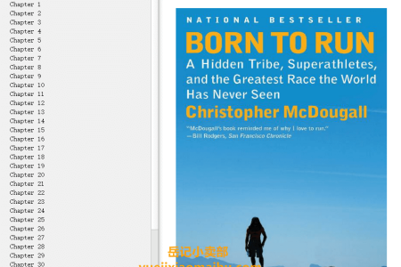 【配音频】Born to Run: A Hidden Tribe, Superathletes, and the Greatest Race the World Has Never Seen by Christopher McDougall(mobi,epub,pdf)