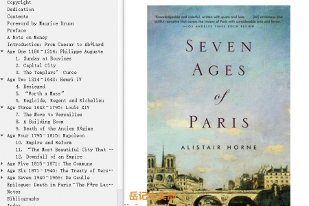 【配音频】Seven Ages of Paris by Alistair Horne(mobi,epub,pdf)