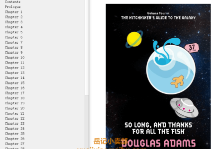 【配音频】So Long, and Thanks for All the Fish (Hitchhiker's Guide to the Galaxy #4) by Douglas Adams(mobi,epub,pdf)