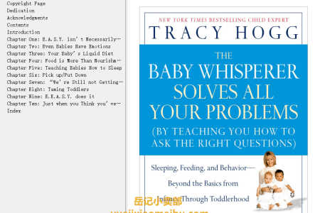 【电子书】The Baby Whisperer Solves All Your Problems: Sleeping, Feeding, and Behavior--Beyond the Basics from Infancy Through Toddlerhood by Tracy Hogg,  Melinda Blau(mobi,epub,pdf)