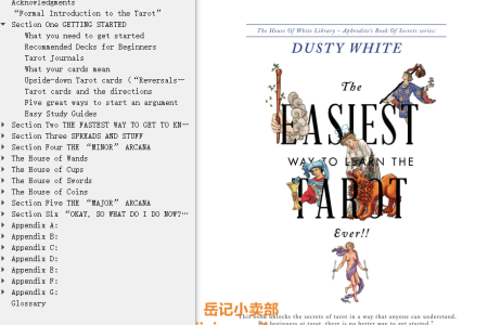 【电子书】The Easiest Way to Learn the Tarot-Ever!! (Aphrodite's Book of Secrets 1) by Dusty White(mobi,epub,pdf)
