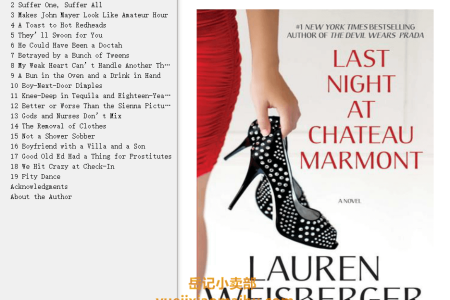 【配音频】Last Night at Chateau Marmont by Lauren Weisberger(mobi,epub,pdf)