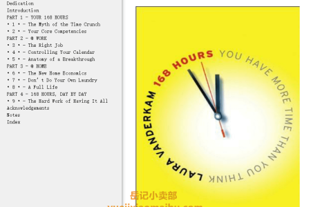 【配音频】168 Hours: You Have More Time Than You Think by Laura Vanderkam(mobi,epub,pdf)