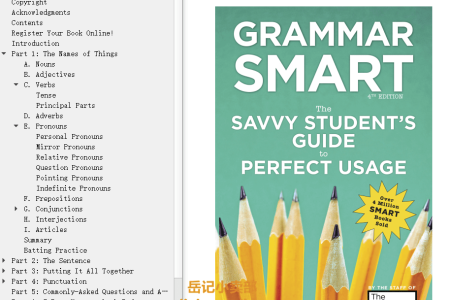 【电子书】Grammar Smart 4th Edition: The Savvy Student's Guide to Perfect Usage (Smart Guides) by Princeton Review(mobi,epub,pdf)