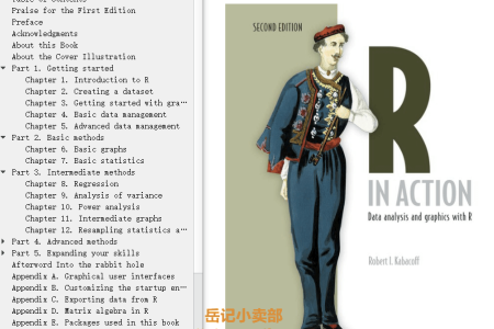 【配音频】R in Action 2nd Edition: Data Analysis and Graphics with R by Robert Kabacoff(mobi,epub,pdf)