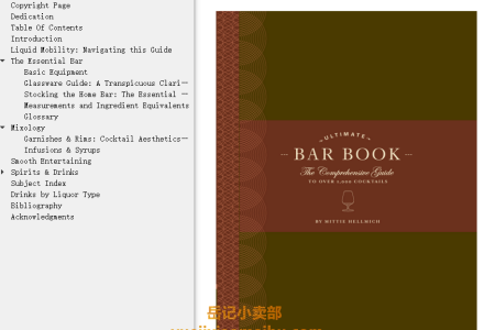 【电子书】The Ultimate Bar Book: The Comprehensive Guide to Over 1,000 Cocktails  by Mittie Hellmich(mobi,epub,pdf)