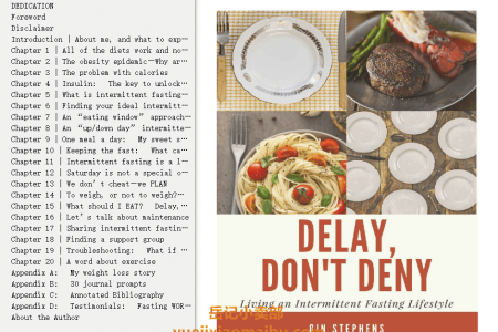 【配音频】Delay, Don't Deny: Living an Intermittent Fasting Lifestyle by Gin Stephens(mobi,epub,pdf)