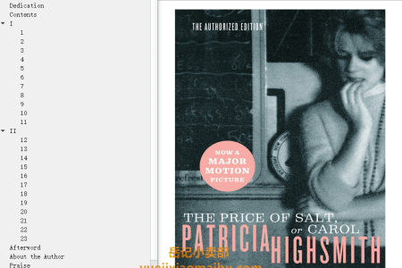 【配音频】The Price of Salt, or Carol by Patricia Highsmith,  Claire Morgan(mobi,epub,pdf)