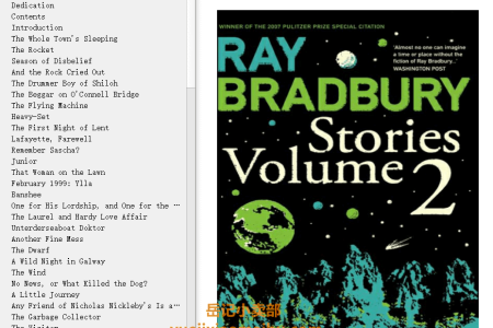 【电子书】Stories Volume 2 by Ray Bradbury(mobi,epub,pdf)