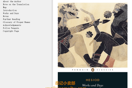 【电子书】Works and Days  by Hesiod(mobi,epub,pdf)