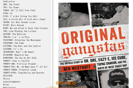 【配音频】Original Gangstas: The Untold Story of Dr. Dre, Eazy-E, Ice Cube, Tupac Shakur, and the Birth of West Coast Rap by Ben Westhoff(mobi,epub,pdf)