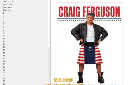 【配音频】American on Purpose: The Improbable Adventures of an Unlikely Patriot by Craig Ferguson(mobi,epub,pdf)