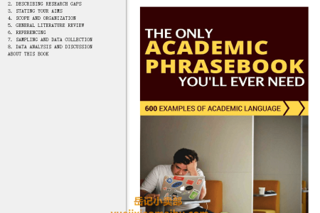 【电子书】The Only Academic Phrasebook You'll Ever Need: 600 Examples of Academic Language by Luiz Otávio Barros(mobi,epub,pdf)
