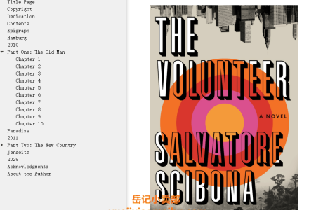 【配音频】The Volunteer by Salvatore Scibona(mobi,epub,pdf)