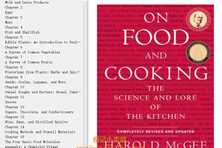 【电子书】On Food and Cooking: The Science and Lore of the Kitchen (The Science and Lore of the Kitchen #1) by Harold McGee(mobi,epub,pdf)