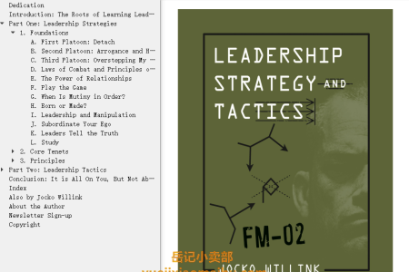 【配音频】Leadership Strategy and Tactics: Field Manual by Jocko Willink(mobi,epub,pdf)
