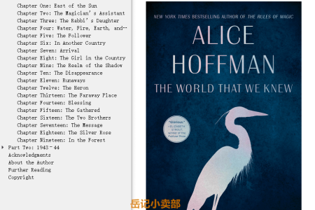 【配音频】The World That We Knew by Alice Hoffman(mobi,epub,pdf)