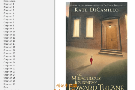 【配音频】The Miraculous Journey of Edward Tulane by Kate DiCamillo(mobi,epub,pdf)