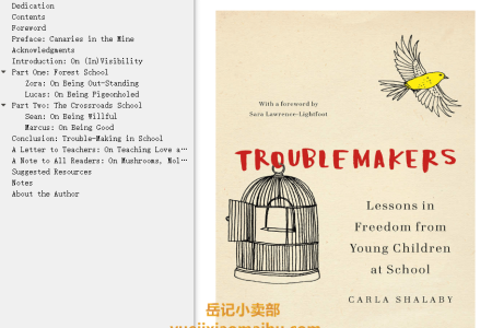 【配音频】Troublemakers: Lessons in Freedom from Young Children at School by Carla Shalaby(mobi,epub,pdf)